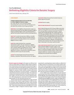 JAMA Network   JAMA   Rethinking Eligibility Criteria for Bariatric Surgery