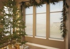 Silhouette shadings diffuse strong incoming light and create a soft glow in your home. The white rear sheer obscures the view into your home, providing daytime privacy. Perfect for the holiday season and all year 'round! Contact us today to get started at 727.823.2929!