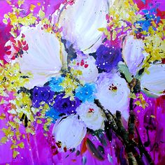 Danielle O'Connor Akiyama Rainbow Painting, Living Room Paint, Flowers Nature, Flower Pictures, Learn To Paint, Abstract Watercolor, Art World, Painting Inspiration, Creative Art