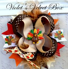 Hey, I found this really awesome Etsy listing at http://www.etsy.com/listing/84164772/turkey-bow-boutique-bow-hair-bow