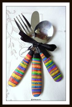Rainbow kids cutlery set $35