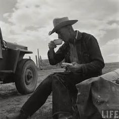 vintage-denim-cowboy-coffee-jeep2 | Juniper Moon Farm