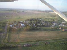 Una vista al pueblo desde el cielo