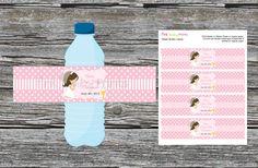 BRICOLAJE  niña primera comunión agua botella por PinkMonkeyPrints