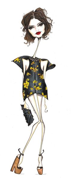 Miss Miroslava - SHOP the gorgeous LOOK on this sketch by Jamie Lee Reardin ON #MUSESTYLE