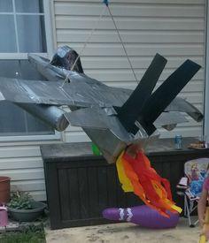 how to make airplane pinata