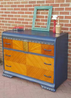 Depression Era Waterfall Dresser: Waynesburg, Ohio | Trove Market