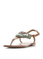 Womens *Head Over Heels by Dune Tan 'Leia' Flat Sandals- Tan