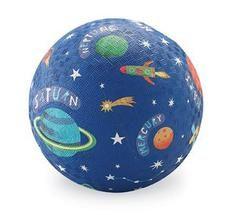 Stor lekboll i gummi - Blå med solsystem från Crocodile Creek - Fri från BPA, PVC och vinyl