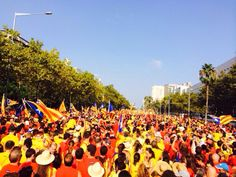 11-09-2014 Diada Nacional de Catalunya People want to vote for Independence