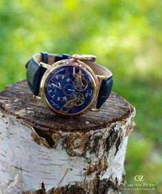 Carl von Zeyten CVZ0017RBL - zegarek Black Forest Twin Balance Automatic • Zegarownia.pl Black Forest, Twins, Watches, Leather, Accessories, Fashion, Moda, Wristwatches, Fashion Styles