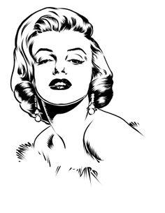 People by Ruel de Guzman, via Behance Marilyn Monroe Dibujo, Marilyn Monroe Drawing, Marilyn Monroe Photos, Pencil Art Drawings, Art Sketches, Marilyn Monroe Wallpaper, Pop Art Wallpaper, Art Painting Gallery, Silhouette Art