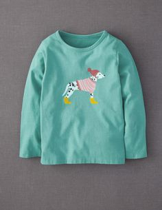 Dalmation in Yellow Boots. Now THAT is scary! Winter Woolly Pet T-shirt  #boden and #magicalmenagerie