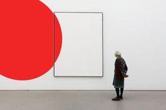 Shot taken at the Pinakothek der Moderne in Munich. Red Shape by Christian Beirle Gonzalez Contemporary Abstract Art, Modern Art, Geometric Photography, Expositions, Art Design, Logo Design, Art Plastique, Oeuvre D'art, Painting Frames