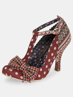 Perfect for a winter wedding.  This Irregular Choice lovely is red with spots and a knitted effect heel and strap. Simply stunning  http://www.unshoesual.co.uk/Irregular-Choice/