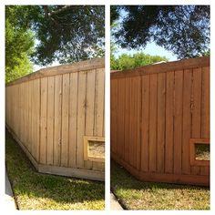 The Happy Homebodies: Quick Fence Facelift ... a 2-person method to stain and waterproof your fence in a couple of hours.