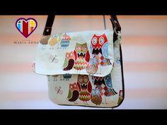 Bolsa fácil e básica de tecido Dora - Passo a passo - Maria Adna Ateliê - Bolsas de tecido - YouTube