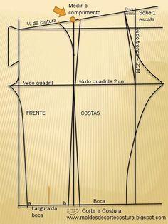 Moldes e dicas de costura: Calça Feminina