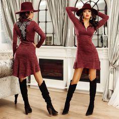 Atunci când vrei o ținută simplă, dar nu banală, alege o rochie pe care să o poți asorta la orice! 😍 #wildfashion #instagood #photooftheday #fashion #like4like #followme #picoftheday #instadaily #style #instalike #fashionstore #fashionbrand #ootd #instastyle #styling #styleadvice #styleinspiration #fashionstyle #fashiongram #fashioninspo #instastyle #fashiontips #trend #trendalert #likeit #instalike #love #lookbook #lookoftheday #instafashion Orice, Like4like, Sweaters, Dresses, Fashion, Vestidos, Moda, Fashion Styles, Sweater