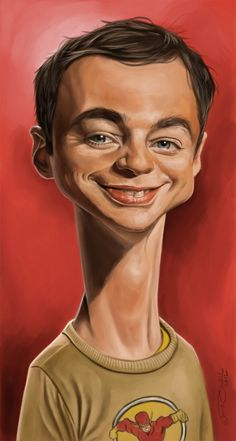 Jim Parsons - Sheldon - The Big Bang Theory by Jaume Cullell Cartoon Faces, Funny Faces, Cartoon Art, Jim Parsons, Funny Caricatures, Celebrity Caricatures, Celebrity Drawings, Caricature Artist, Caricature Drawing