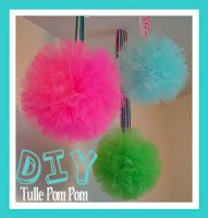 Tulle Pom Pom Tutorial...easier than tissue paper...just like yarn paom poms..super easy!