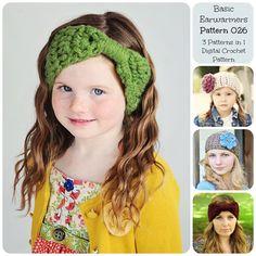 http://www.awin1.com/cread.php?awinmid=6939&awinaffid=255809&clickref=pinCrochet&p=https%3A%2F%2Fwww.etsy.com%2Flisting%2F151362910%2Fcrochet-earwarmers-pattern-026-crochet  Crochet Earwarmers Pattern 026, Crochet Pattern, Crochet Headband Pattern, Ear Warmer Pattern