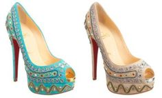 I want the teal ones...Louboutin's Bollywoody Pump. Too bad I have to use that college loan money for actual college.