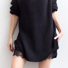 I've been looking for a dress with lace on the hemline. this one is perfect