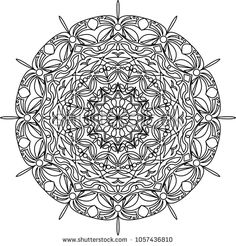 Adult coloring page. Mandala coloring. Vector illustration.