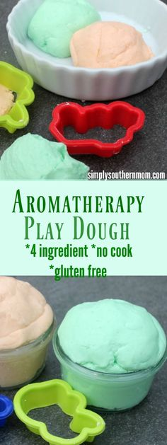 This diy aromatherapy play dough is made with 4 common household ingredients, is no cook and is gluten free. With a prep time of around 10 minutes, this is a perfect activity for kids.