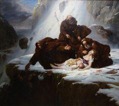 Louis Hersent - Les Religieux du mont Saint-Gothard
