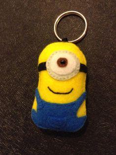 Minion plush keychain
