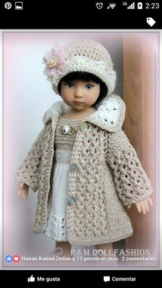 Explore photos on Photobucket. Sewing Doll Clothes, American Doll Clothes, Crochet Doll Clothes, Sewing Dolls, Knitted Dolls, Girl Doll Clothes, Doll Clothes Patterns, Crochet Dolls, Barbie Clothes