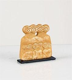Mesopotamian Eye Idol Statue, Miniature-Eye Idol Miniature Statue (Mesopotamia, ca. Ancient Aliens, Ancient History, Prehistoric Period, Celtic, Cultural Crafts, Ancient Near East, Art Premier, Idole, Ceramic Figures