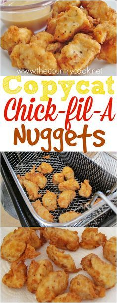 Copycat Chick fil A Chicken Nuggets recipe from The Country Cook