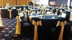 white linen with gold runner and orange chairs banquet setup - Google Search Gold Runner, Orange Chairs, Poker Table, Banquet, Decor Ideas, Google Search, Home Decor, Decoration Home, Room Decor