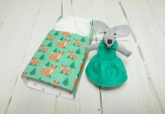 Woodland plush felt mouse in matchbox small by atelierpompadour