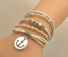 Boho TRIPLE Leather Wrap Bracelet  Silver Accent by BeMyCharm, $24.95