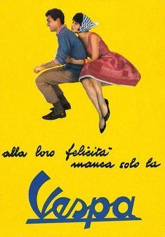 Lambretta Vespa Yellow Art Silk Cloth Poster Home Wall Decor Vintage Italian Posters, Vintage Ads, French Posters, Italian Scooter, Vespa Lambretta, Vespa Scooters, Man Shed, Cartoon Posters, Yellow Art