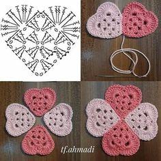 Crochet Geek, Diy Crochet And Knitting, Crochet Chart, Crochet Gifts, Crochet Motif, Granny Square Crochet Pattern, Crochet Stitches Patterns, Crochet Designs, Knitting Patterns