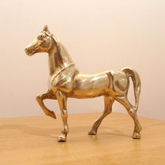 Heavy Brass Horse Statue Vintage by UKAmobile on Etsy