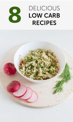 8 Delicious Low Carb Recipes
