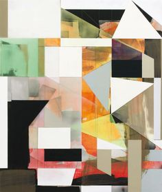 Andrew Bick (Coleford, Gloucestershire, 1963) British paints complex geometric images at once using overlapping materials: acrylic, pencil, watercolor and wax.