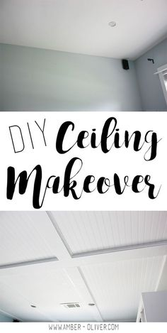 DIY Ceiling Makeover   How To Do A Faux Coffered Beadboard Ceiling!