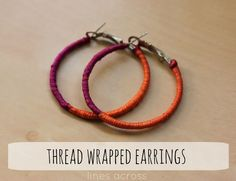 """Lines Across"": Makeover Hoop Earrings"