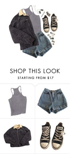 """here i go again"" by dahmergirl ❤ liked on Polyvore featuring American Apparel, Levi's and Converse"