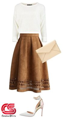 Crop sweater and midi skirt Blue Skirt Outfits, Midi Skirt Outfit, Baby Outfits, Dress Skirt, Modest Wear, Modest Outfits, Modest Fashion, Work Outfits, Skirt Fashion
