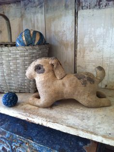 19Th C Cloth Rabbit ..