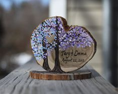 Custom colors hand painted wedding cake topper by JenniferLenoxVT