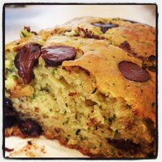Zucchini Bread via Pass the Cocoa. Moist and fluffy inside, and the chocolate chips are the perfect accents.
